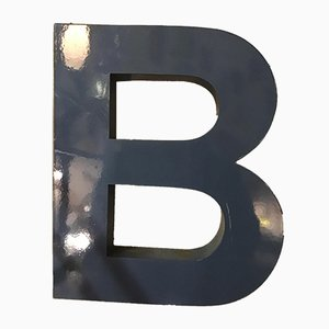 Lettera B vintage in metallo