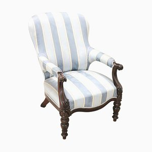 Antique Walnut Armchair, 1850s