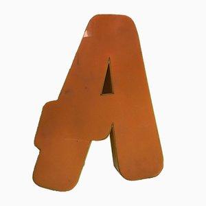 Vintage Plexiglas A Letter Sign