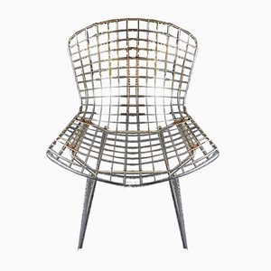 Vintage Wire Mesh Chairs by Harry Bertoia, 1980s, Set of 2