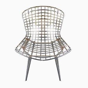 Vintage Wire Mesh Stühle von Harry Bertoia, 1980er, 2er Set
