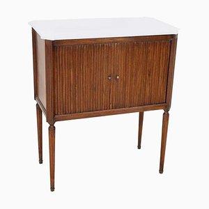Antiker Walnuss Schrank oder Nachttisch mit Schiebetür, 1820er