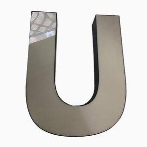 Vintage Plexiglas U Letter Sign