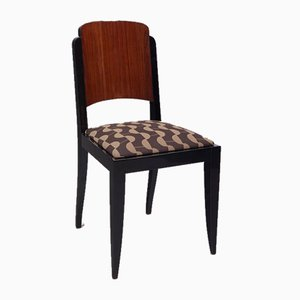 French Art Deco Rosewood Side Chairs by Jules Leleu, 1920s, Set of 6