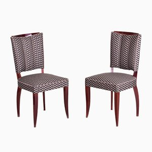 French Art Deco Side Chairs by Jules Leleu, 1920s, Set of 6