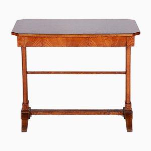 Small Austrian Biedermeier Ash Side Table, 1840s