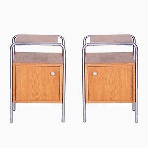 Bauhaus Oak Side Tables by Robert Slezak, 1930s, Set of 2