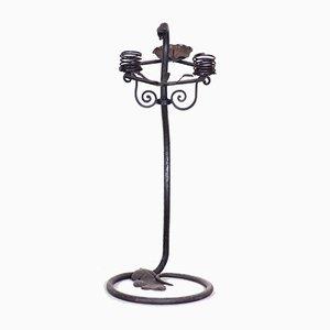 Art Deco Austrian Wrought Iron Candleholder, 1920s