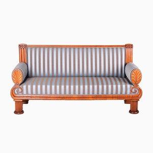 Antique Biedermeier Czech Cherrywood Sofa, 1820s