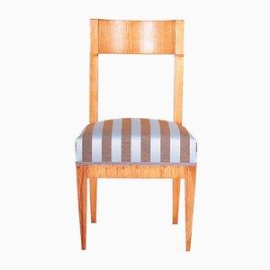 Antique Biedermeier Austrian Elm Side Chair by Josef Danhauser, 1830s