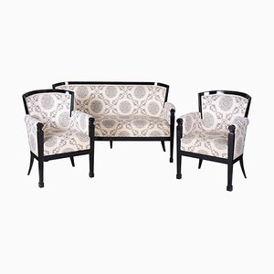 Empire Czech Black Living Room Set, Set of 3