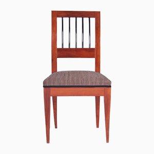19th Century Biedermeier Austrian Yew Chair, 1820s