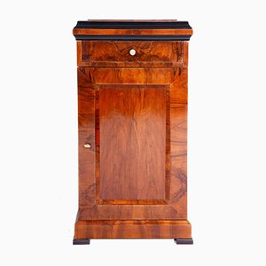 Biedermeier German Walnut Nightstand, 1830s
