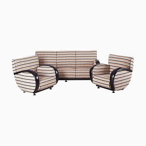 Art Deco Living Room Set by Jindrich Halabala, 1930s, Set of 3