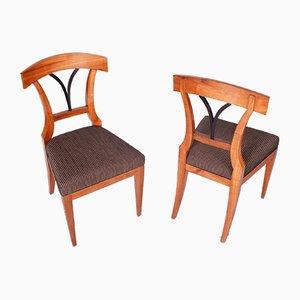 Biedermeier Czech Cherrywood Chairs, 1830s