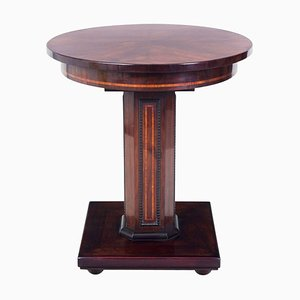 Small Art Deco French Rosewood Side Table, 1910s