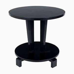 Small Antique Black Coffee Table, 1910s