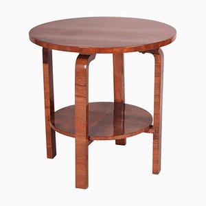 Small Art Deco Walnut Side Table, 1930s