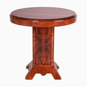 Small Art Deco French Rosewood and Walnut Veneer Side Table, 1920s