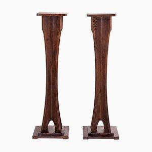 Art Deco Austrian Oak Pedestal
