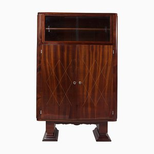 Art Deco French Mahogany Display Cabinet, 1920s