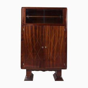 Art Deco French Mahogany Display Cabinet, 1920s