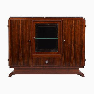 Art Deco Rosewood and Marble Sideboard, 1930s
