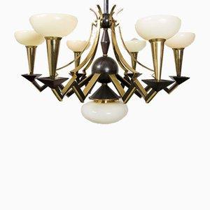 Lámpara de araña cubista de Josef Gočár