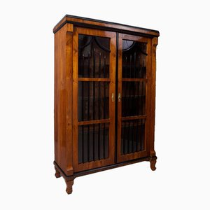 19th Century Biedermeier Czech Brown Walnut Double-Door Wardrobe