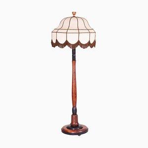 Art Deco Eichenholz Stehlampe, 1920er