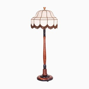 Art Deco Oak Floor Lamp, 1920s
