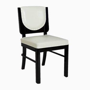 Französische Art Deco Stühle aus Ebenholz, 1920er, 4er Set
