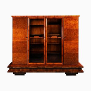 Art Deco Walnut Wardrobes, 1920s, Set of 2