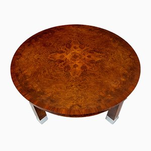 Art Deco Walnut Side Table, 1920s
