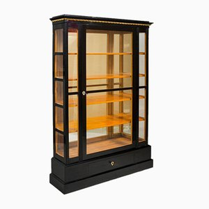 19th Century Austria Empire Ebonized Display Cabinet