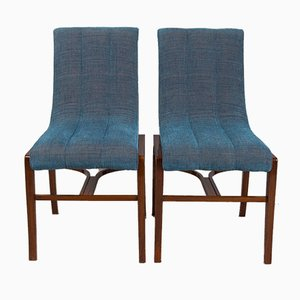 Art Deco French Rosewood Side Chairs by Jules Leleu, 1920s, Set of 2