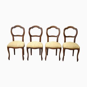 Beech Dining Chairs, 1950s, Set of 4