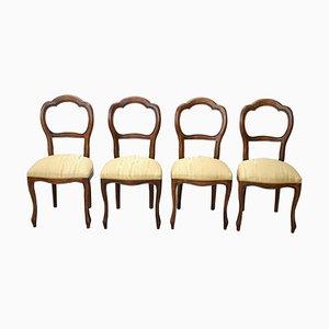 Buchenholz Esszimmerstühle, 1950er, 4er Set