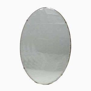 Mid-Century Spiegel aus Kristallglas von Pieterman