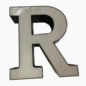 Vintage Plexiglas R Letter Sign