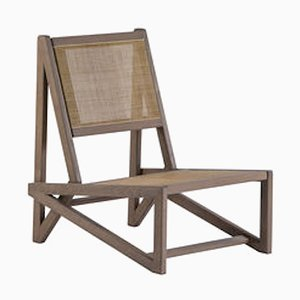 Walnut TI Low Armchair by Studio Adonde