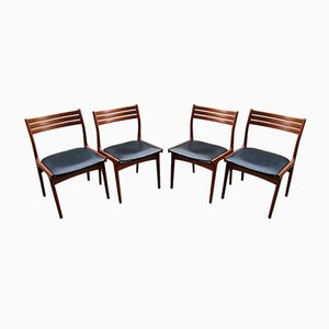 Teak Dining Chairs by Johannes Andersen for Uldum Møbelfabrik, 1950s, Set of 4