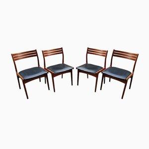 Teak Esszimmerstühle von Johannes Andersen für Uldum Møbelfabrik, 1950er, 4er Set