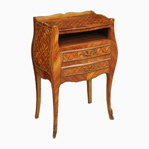 French Rosewood. Beech & Walnut Inlaid Side Table, 1960s