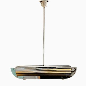 Lámpara de techo de cromo, años 30