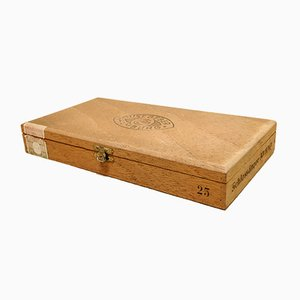 Mid-Century Wooden Cigar Box from Gustav Geber