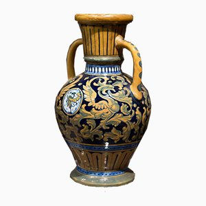 Italian Majolica Vases by S. L. Robbia, 1940, Set of 2