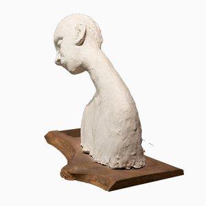 Italian Plaster & Wood Sculpture, 1940s