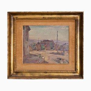 Peinture Contreplaqué par Luigi Polverini, Italie, années 40