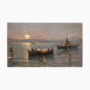 Italienische Marine Landschaft von Attilio Pratella, 1920er